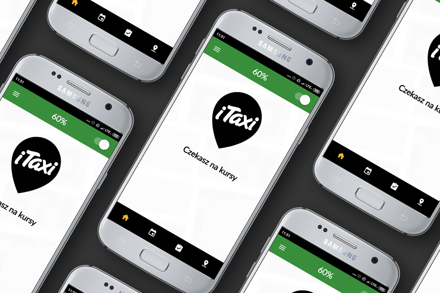 A new mobile app for iTaxi drivers - screen